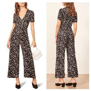 New Reformation Floral France Jumpsuit  Size 12